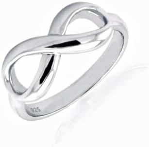17MM Sterling Silver INFINITY CELTIC LOVE KNOT Ring 4-13