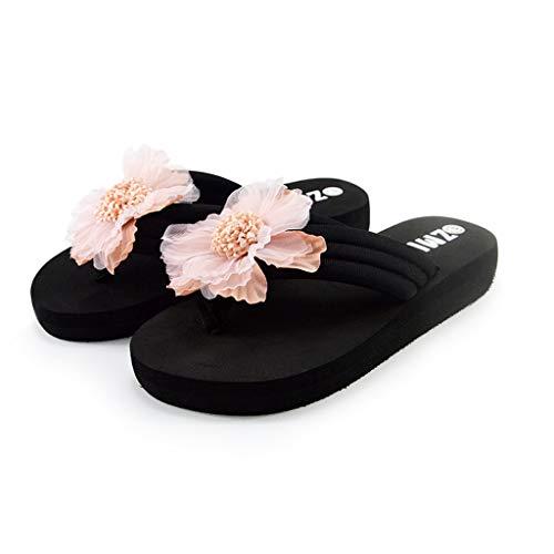 Moda Theshy Infradito Pantofole Fiori Estate Casual Sandali Casa Da Donna Alla Rosa Spiaggia Scarpe qtrtAwH