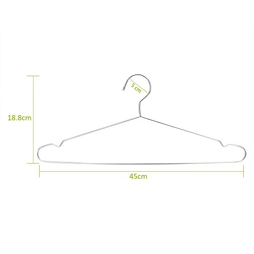 Jetdio Stainless Steel Strong Metal Wire Hangers, Coat Hanger ...