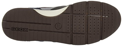 Geox Herren U Sandford B ABX A Sneaker, Braun (Charcoal/Ebony), 40 EU