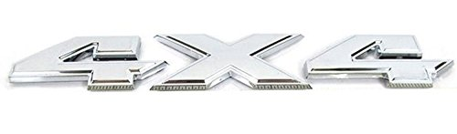 Exotic Store DR-44S Replacement DODGE RAM 1500 2500 3500 3-D FLAT Chrome 4X4 EMBLEM NAMEPLATE BADGE For Dodge Chevy Ford Jeep (Chrome)