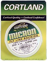 Cortland Micron Backing Hi-Vis Yellow, 20lb Test, 100 yards