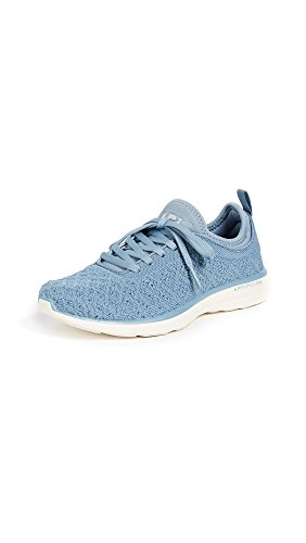 APL: Athletic Propulsion Labs Women's TechLoom Phantom Sneakers, Grey Denim/Pristine, 8 B(M) US