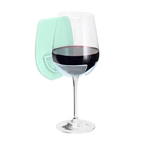GIGRIN Sipski Wine Glass Holder, Portable Cupholder for Shower & Bath Relax, for Friend, Mom, Dad (Seafoam)