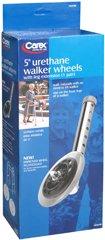 Carex Urethane Walker Wheels 5 Inch - 2 each, Pack of 6