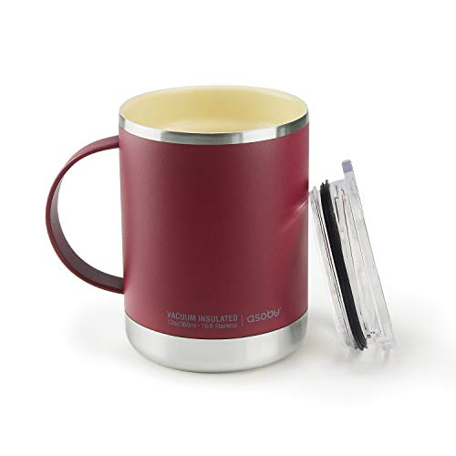 Asobu Ultimate Stainless Steel Ceramic Inner Coating Insulated Travel Mug 14 Ounce...