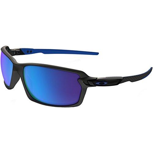Oakley Men's Carbon Shift Non-Polarized Iridium Rectangular Sunglasses, Matte Black, 62 - Oakley Sunglasses Fibre Carbon