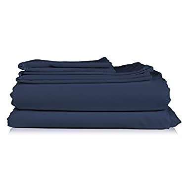 Queen Size Sheet Set - 6 Piece Set - Hotel Luxury Bed Sheets - Extra Soft - Deep Pockets - Easy Fit - Breathable & Cooling Sheets - Comphy - Royal Blue - Navy Blue Bed Sheets - Queens Sheets - 6 PC