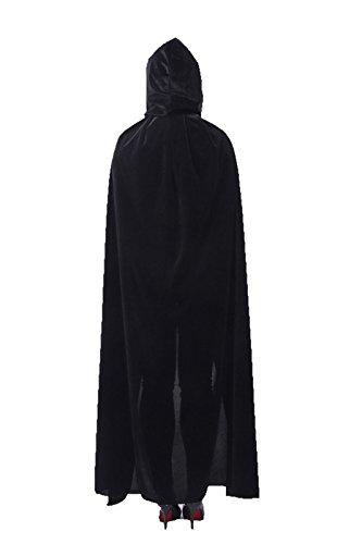 (ECITY Unisex Adult Women/Men Hooded Cloak Role Play Halloween Costume Cosplay Christmas Cape (Medium (51.2 inch=130cm),)