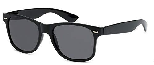 WebDeals Retro - Sunglasses Classic 80's Vintage Style Design Polarized or Standard Lens...... (A#1 Black ()
