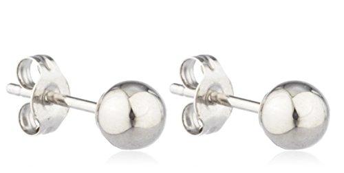 14k stud earring(white 10mm) - 1