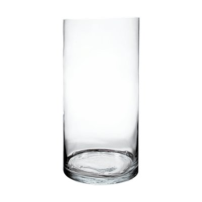 CYS EXCEL Glass Vase, Cylinder Vase, Glass Cylinder Tall Vase, 6 Size Available, (Pack of 1) (H:24