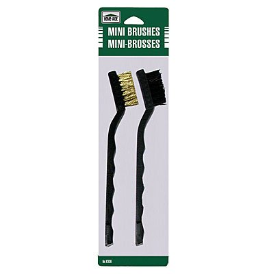 Set of 2 Mini Brushes 1 with Brass Wire Bristles and 1 With Nylon Bristles