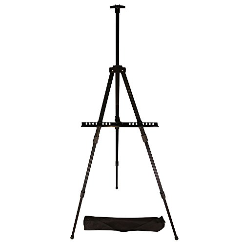 Easel, Berland Black Aluminum 71 Inches Tall, Portable, Lightweight and Sturdy Telescoping Tripod for Tabletop or Floor - Perfect for Field, Display and Presentation - Includes Carry Bag (Bag Whiteboard)