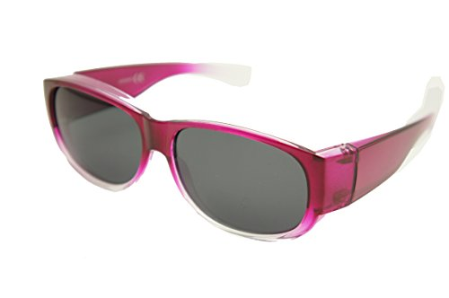 #1 Sale Fitover Lens Covers Sunglasses Wear Over Prescription Glass Polarized St7659pl (Medium: shiny pink fade / polarized smoke - Sale Sunglasses Prescription