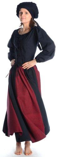 HEMAD/Billy Held - Vestido - Básico - para mujer darkred-black
