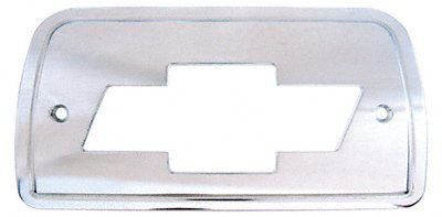 Bow Tie Tail Light Covers (All Sales 94006 Brushed Billet Aluminum Third Brake Light Cover - Chevy Bowtie Logo)