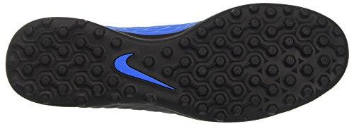 Nike Men's Hypervenomx Phade III Tf for Soccer Training Shoes Multicolor (Black/Volt/Photo Blue) ovH3H49