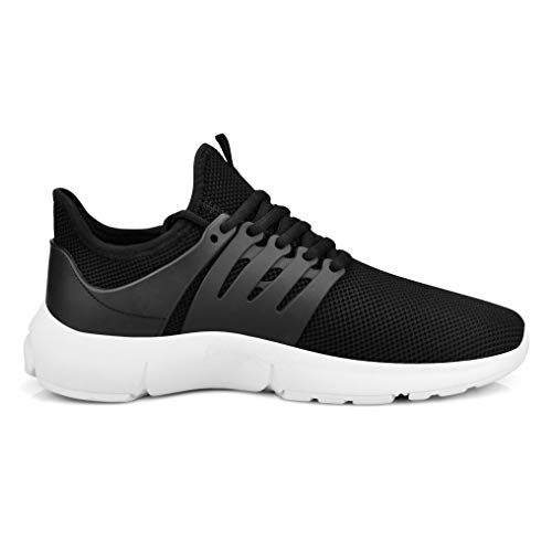 QANSI Mesh Running Black Hiking Comfortable Women Breathable White Sneakers Walking Ultra Tennis Shoes rxTfrtwY