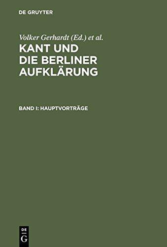 Download Kant Und Die Berliner Aufklarung (German Edition) pdf
