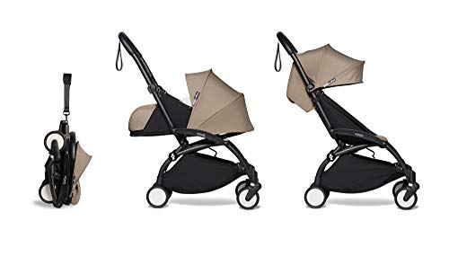 Babyzen YOYO2 Stroller & Newborn Set – Black Frame with Taupe Fabrics