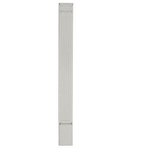 Ekena Millwork PIL05X96X02 5-Inch W x 96-Inch H x 2-Inch D with 13 1/4-Inch Attached Plinth, Fluted Pilaster Capital Fluted Pilasters