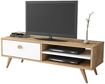 Yurupa Inamor Mueble para TV, Televisor Mesa de televisión con 1 Estante, con 1 cajón, Textura de Madera IN1-211: Amazon.es: Hogar