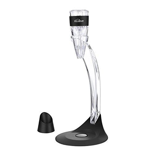 Kealive Wine Aerator Tower Set, Stylish Portable with Velvet Bag, Stand Wine (Velvet Wine Pourer)