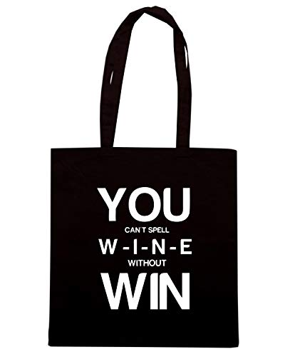BEER0307 Speed SPELL WITHOUT Shirt YOU WINE T Borsa WIN Nera Shopper CAN I6Iwqrv8x
