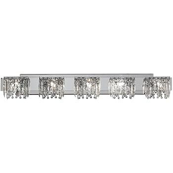 Chrome Crystal Halogen 42 1/2-Inch-W Possini Euro Bath Light ...