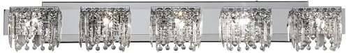 Chrome Crystal Halogen 42 1/2-Inch-W Possini Euro Bath Light (Chrome Fixture Light Bath Five)