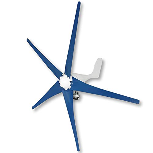 YiiYYaa 800W 5 Blades DC12V Horizontal Wind Turbine Generator Wind Turbines Energy Generator with Wind Charger Controller (Without Bracket) (12V)