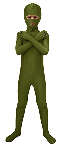 Spandex Army Green Mouth Dress Kids Open Costume and Fancy Sheface Eyes Bodysuit vwW5xfPqRq