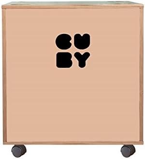 apilable para estanter/ía Sistema rosa dusty pink /Caja Caja para juguetes sobre ruedas Cuby/