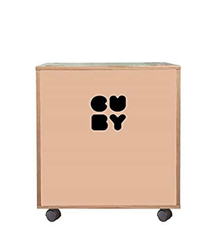 Cuby – Caja Caja para juguetes sobre ruedas, apilable para estantería Sistema rosa dusty pink