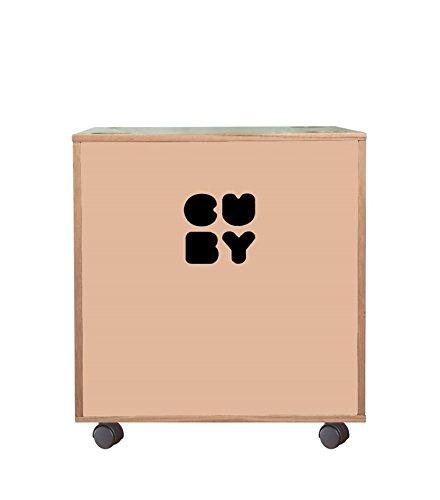 Cuby - Caja Caja para juguetes sobre ruedas, apilable para estantería Sistema rosa dusty pink: Amazon.es: Bebé