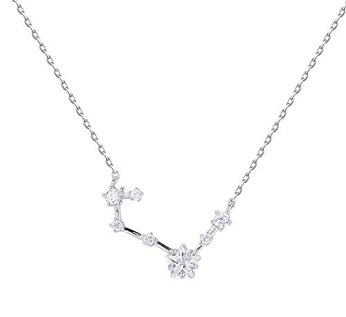 Fashion S925 Silver Necklace with Diamond Seven-Star Five-Petal Flower Pendant Female Personality Temperament Student Short Clavicle Chain Gift is The Best Choice