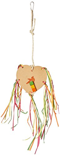 Paradise 6.5 by 6.5 by 14-Inch 3D Chipboard Heart and Blocks Pet Toy, Large ()