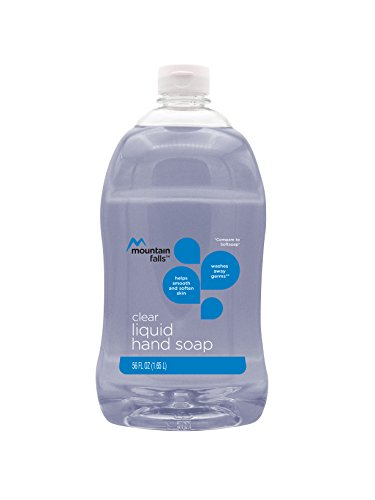 Liquid Refill Hand Mild Wash (Mountain Falls Liquid Hand Soap Refill Bottle, Clear, Compare to Softsoap, 56 Fluid Ounce)