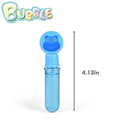 FUN LITTLE TOYS 24 Pack Magic Bubble Wands Easter Egg Stuffers Unbreakable Bubbles for Kids Party Supplies Outdoor Indoor Activities: Toys & Games
