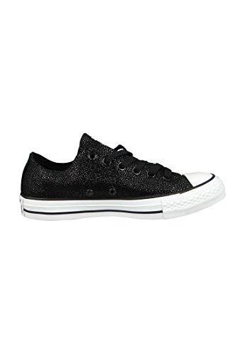 Converse Mandrini 553349C CT AS pelle nera Sting Ray Nero Bianco, Converse Schuhe Damen Leiste 10A:40