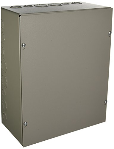 Wiegmann SC121506 SC-Series NEMA 1 Screw Cover Wallmount Pull Box with Knockouts, Painted Steel, 15