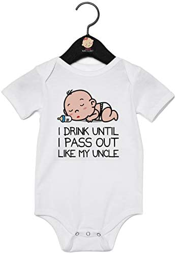I Drink Until I Pass Out Like My Uncle Vest And Bib Gift Set Baby Gift Set