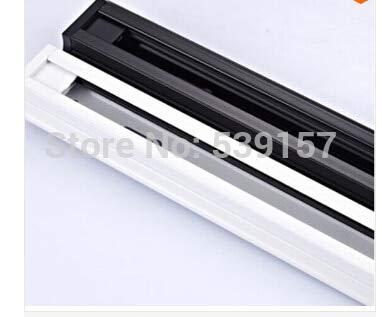 Gimax,1m LED track rail,Track light rail connectors,Universal rails,aluminum track,lighting fixtures,Black,White,Silver