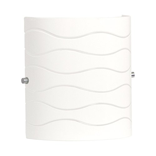 Avellina 1 Light Wall Sconce Lighting Fixture - Carved Opal Glass - Linea di Liara LL-WL828