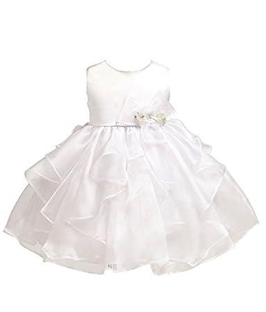 792d7e3678da Amazon.com  KID Collection Baby-girls White Christening Baptism ...