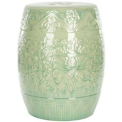 Charmant Safavieh Paradise Gardens Embossed Lime Green Ceramic Garden Stool