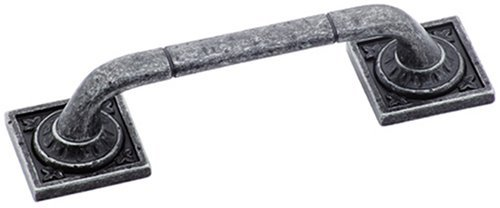 Amerock BP4482WID Ambrosia Euro Stone Square Pull, Wrought Iron Dark, 3-3/4-Inch by Amerock