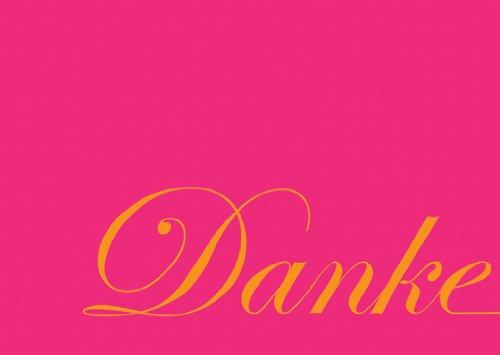 5er Set Dankeskarten mit Typografie in pink