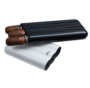 Visol VCASE488 Agent White & Black Carbon Fiber 3 Finger Cigar Case by Visol
